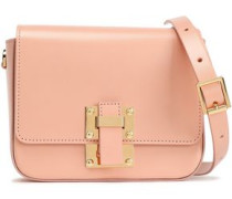 The Quick Small Leather Shoulder Bag Peach Size --