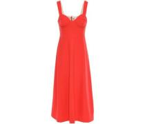 Crepe Midi Dress Papaya