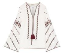 Sana Embroidered Cotton Top White