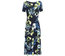 Floral-print Ponte Dress Navy Size 12