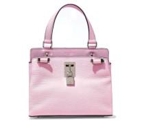 Embellished Pebbled-leather Shoulder Bag Baby Pink Size --