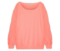 French Cotton-terry Sweatshirt Peach