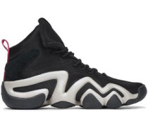 Crazy 8 Adv Suede-trimmed Mesh Sneakers Black