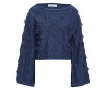 Fil Coupé Cotton Sweater Navy
