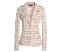 Wool-blend jacquard blazer
