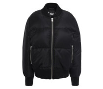 Quilted Shell Bomber Jacket Black