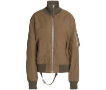 Brushed-cotton bomber jacket