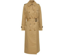 Double-breasted Cotton-gabardine Trench Coat Sand