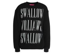 Printed Cotton-jersey Sweatshirt Black