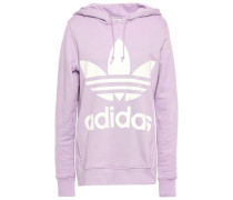 Woman Printed French Cotton-terry Hoodie Lilac