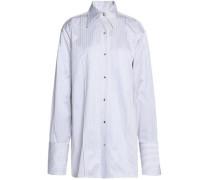 Striped Cotton-poplin Shirt Light Gray