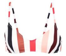 The Rachel Striped Bikini Top Ivory