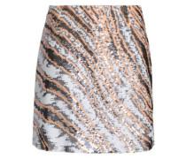 Sequined silk mini skirt
