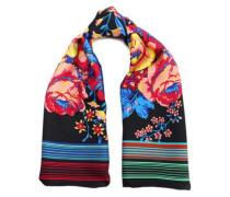 Floral-print silk-satin scarf