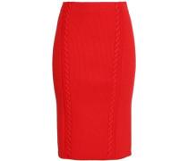 Brandy ribbed-knit pencil skirt