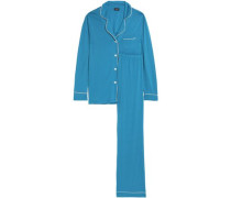 Cotton and modal-blend pajama set