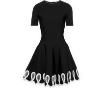 Woman Embellished Ponte Mini Dress Black