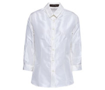 Silk-taffeta Shirt Off-white