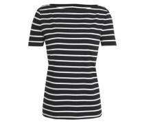 Broome Street Striped Cotton-jersey T-shirt Black