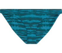 Zuma Tie-dyed Low-rise Bikini Briefs Petrol