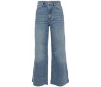Woman Maya Cropped High-rise Wide-leg Jeans Mid Denim