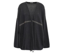 Bead-embellished Cashmere Cardigan Black
