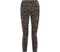 Woman Good Cropped Leopard-print High-rise Skinny Jeans Animal Print