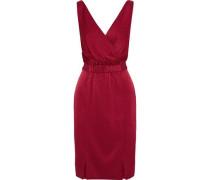 Norah wrap-effect satin dress