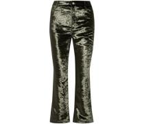 Velvet kick-flare pants