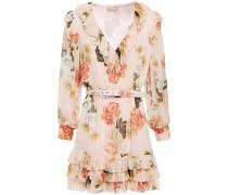 Tiered Floral-print Silk-georgette Mini Dress
