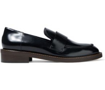 Glossed-leather Loafers Black
