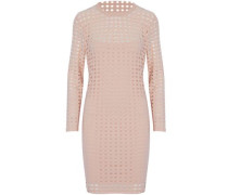 Laser-cut Stretch-jersey Mini Dress Blush