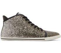 Glittered canvas sneakers