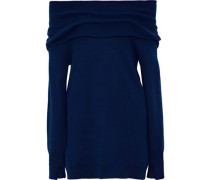 Off-the-shoulder wool and cashmere-blend sweater