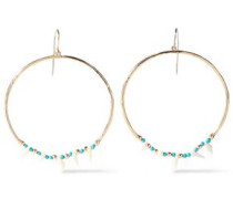 18-karat Gold-plated, Turquoise And Resin Earrings Gold Size --
