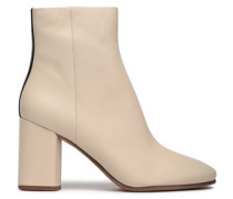 Robyn Two-tone Leather Ankle Boots Beige