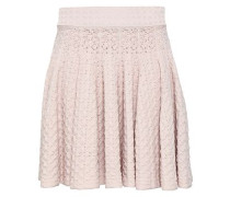 Pointelle-knit Mini Skirt Pastel Pink