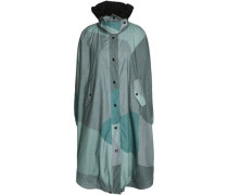 Printed cotton hooded coat