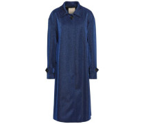 Woman Metallic Jersey Coat Cobalt Blue