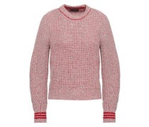 Marled Merino Wool-blend Sweater Red