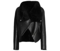 Shearling Biker Jacket Black