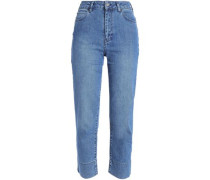 High-rise Straight-leg Jeans Mid Denim  6