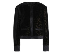 Satin-trimmed velvet jacket