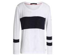 Slub cotton-blend jersey top