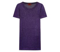 Metallic crochet-knit T-shirt