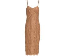 Cotton-blend corded lace dress