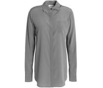Washed silk-blend shirt