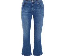 Addison cropped mid-rise flared jeans