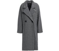 Woman Double-breasted Wool-blend Coat Black