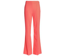 Woman Crepe Flared Pants Coral